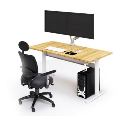 Ergovida N02-22DW B Рама для стола с ручной регулировкой высоты Цвет: серебристый/черный/белый